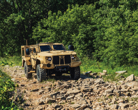 Today's announced order includes JLTVs for the U.S. Army, U.S. Marine Corps, U.S. Air Force, and U.S. Navy. (Photo: Business Wire)
