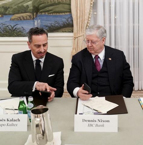 Co-Chairs Dennis E. Nixon and Rafael Moises Kalach Mizrahi. (Photo: Business Wire)