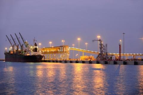 Saudi Arabia's Rais Al Khair Industrial Port (Photo: AETOSWire)