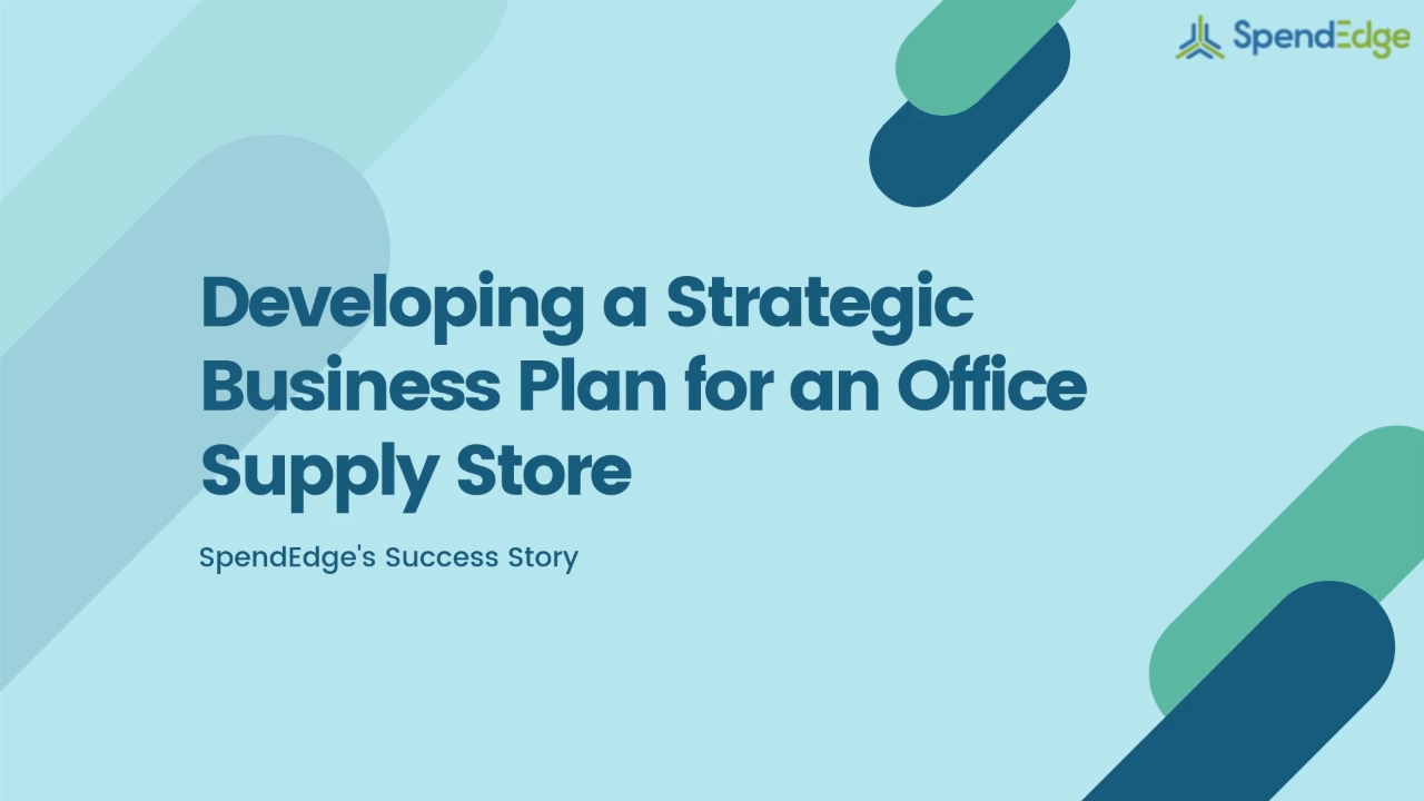 Developing a Strategic Business Plan for an Office Supply Store
