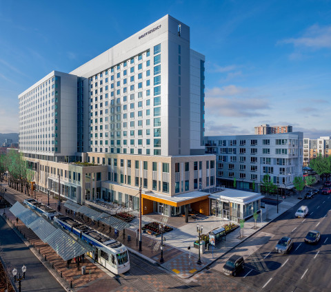 Exterior of the new Hyatt Regency Portland at the Oregon Convention Center, which opened December 19, 2019. (Photo: Business Wire)