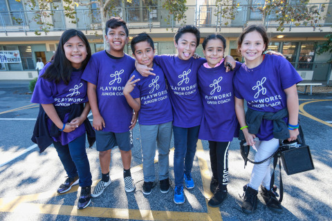 """Over the past three years, AEG has partnered with Playworks in schools in the Los Angeles area to bring the """"power of play"""" to low-income students. (Photo: Business Wire)"""