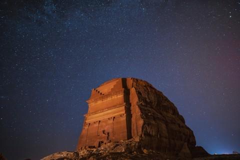 Hegra at night (Photo : AETOSWire)