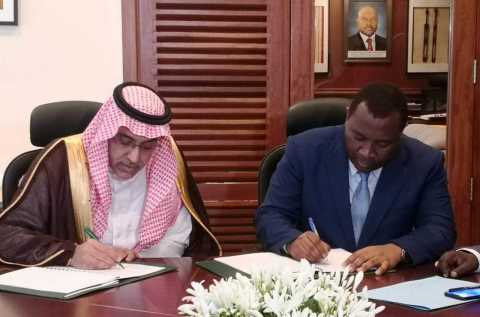 Dr. Khaled bin Sulaiman Al Khudairy, Vice Chairman and Managing Director of the Saudi Fund for Development (left) and Mr. Domicien Ndihokubwayo, the Minister of Finance (right) for Burundi sign the new loan agreement. (Photo : AETOSWire)