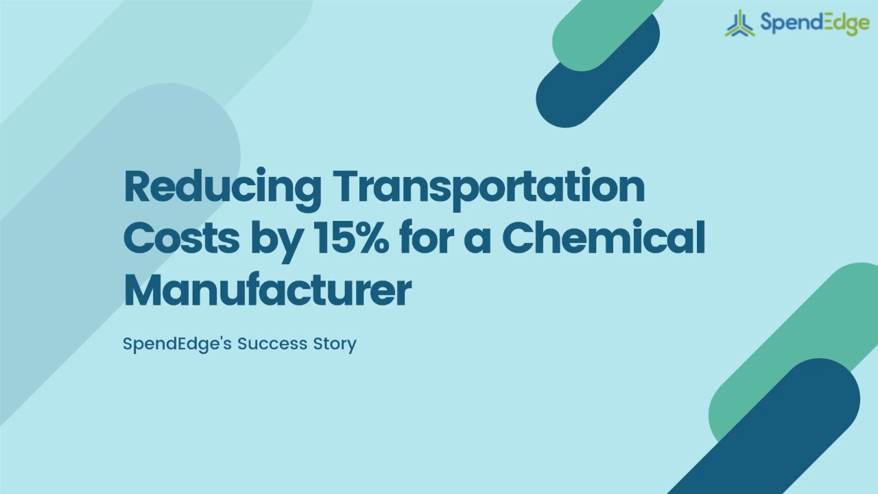 Reducing Transportation Costs by 15% for a Chemical Manufacturer.