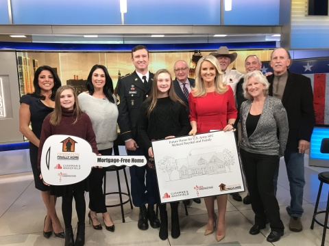 Representatives from Operation FINALLY HOME, Cushman & Wakefield and Daniel Adams Construction surprised U.S. Army Sergeant First Class Richard Stayskal and family during a segment on FOX & Friends First's 12 Days of Giving. (Photo: Operation Finally Home)