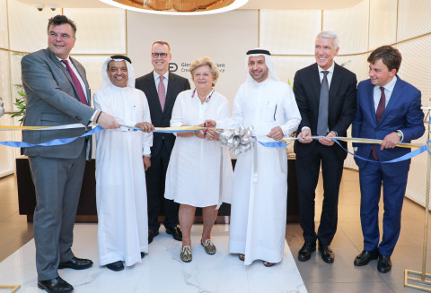 Dr Zarooni along with Verena Collande and Ambassador of Germany during the inauguration (Photo: AETOSWire)