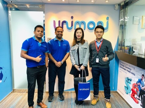 UAE Exchange rebrands as Unimoni in Hong Kong - with customers at the Unimoni Hong Kong branch (Photo: AETOSWire)