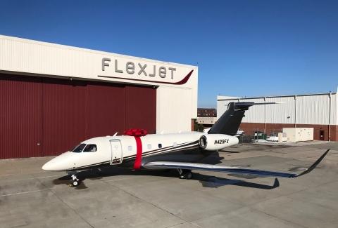 Flexjet, today announced its acceptance of its first delivery of the Embraer Praetor 500, part of a $1.4 billion order announced in October with Embraer Executive Jets. (Photo: Business Wire)