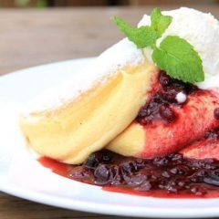 PANCAKE with CHEESE MOUSSE & BERRY SAUCE (Photo: Business Wire)