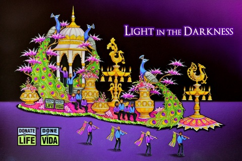 """2020 Donate Life Rose Parade rendering, """"Light in the Darkness."""" (Graphic: Business Wire)"""