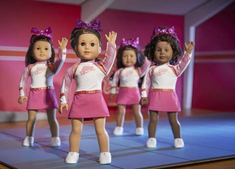 Joss executes a winning routine with her Shine Athletics competitive cheer team. (Photo: Business Wire)