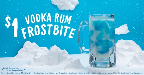 Bundle Up and Ring in the New Year with Applebee's $1 Vodka Rum Frostbite (Photo: Business Wire)