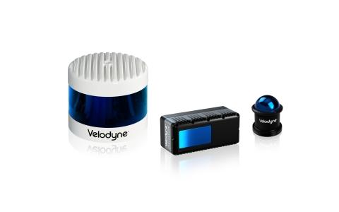 Velodyne's product line includes the autonomy-advancing Alpha Prime™, the ADAS-optimized Velarray™ and close-range sensing VelaDome™ (Left to Right). (Photo: Velodyne Lidar)