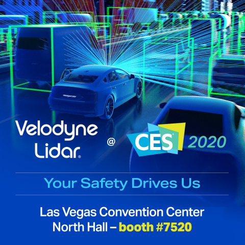 Velodyne Lidar, Inc. will showcase its smart, powerful lidar sensor technology at CES 2020 in the Las Vegas Convention Center North Hall – booth #7520. (Photo: Velodyne Lidar)