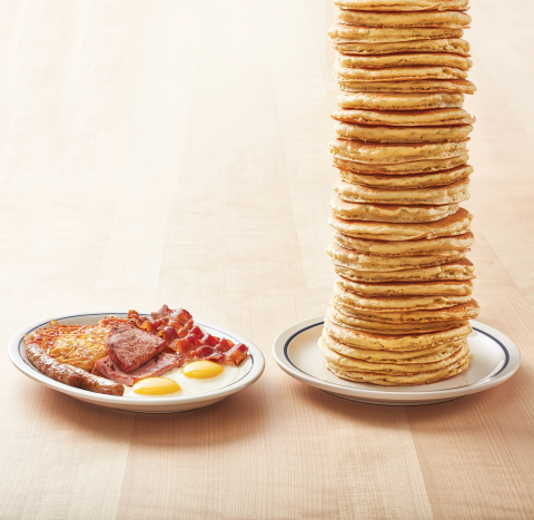 All You Can Eat Pancakes are back at IHOP! For a limited time, enjoy as many of IHOP's original Buttermilk pancakes as you can eat with any breakfast combo; plus, get 'All You Can Eat Pancakes' with the order of a 2x2x2 breakfast combo, Monday through Friday only, for just $4.99. (Photo: Business Wire)