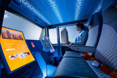 Osram's Osire family of iRGB LEDs light up the interior of Rinspeed's MetroSnap, adjusting to match personal preferences of passengers and provide human-centric lighting benefits. Picture: Rinspeed