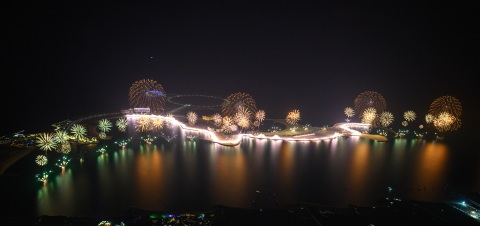 The spectacular Ras Al Khaimah New Year's Eve Gala that set two GUINNESS WORLD RECORDS™ titles (Photo: AETOSWire)
