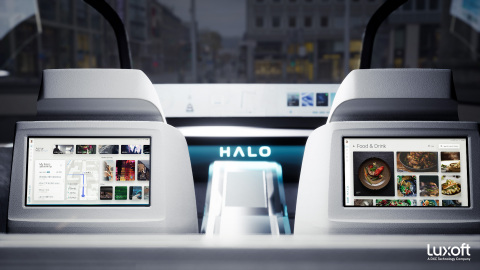 Luxoft HALO, featuring seamless and instant personalization via user profiles, favorite services and pre-installed apps. Image courtesy of Luxoft.