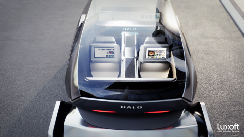 Luxoft HALO提供革命性的数字化消费级车载体验。图片由Luxoft提供。