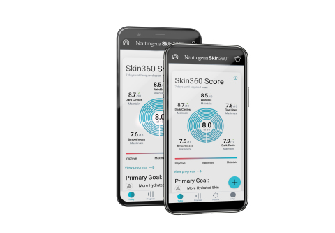 U.S. consumers can download the NEUTROGENA Skin360 app from both the App Store and Google Play for free, for use on both iPhone and Android devices. (Photo: Business Wire)
