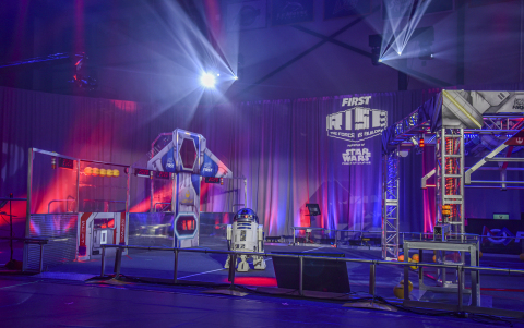 Today at Southern New Hampshire University in Manchester, N.H., FIRST unveiled the game field for INFINITE RECHARGE, a new robotics game part of the FIRST RISE, powered by Star Wars: Force for Change, season. (Photo: Business Wire)