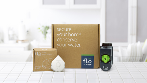 The Flo by Moen Smart Water Detector is a standalone sensor that can be placed anywhere in a house to alert users if, and when, it detects moisture to help prevent water damage and loss. (Photo: Business Wire)