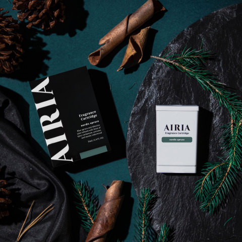 AIRIA is the cutting-edge connected home fragrance system that allows you to enjoy sophisticated, consistent scent through smart delivery. (Graphic: Business Wire)