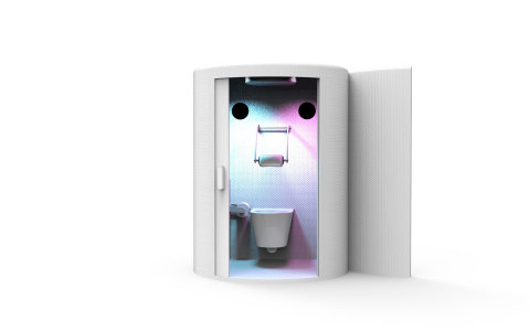 V.I.Pee is a premium porta-potty experience enhanced with Oculus Rift S VR that will transport any GOer to the front row so you will never miss a beat while on the seat. (Photo: Business Wire)