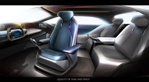 """Toyota Boshoku future concept model MX191 designed under the theme of """"more comfort, more safety, and more enjoyment"""" (Graphic: Business Wire)"""