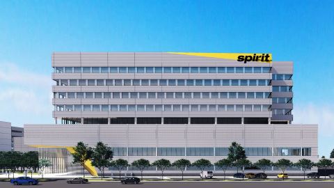 Spirit Airlines' planned $250 million global headquarters at Kimco's Dania Pointe Signature Series mixed-use development (Photo: Business Wire)