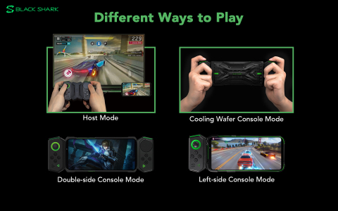 Black Shark, the Best Portable Gaming Station, offers different ways to play for mobile gaming. (Graphic: Business Wire)