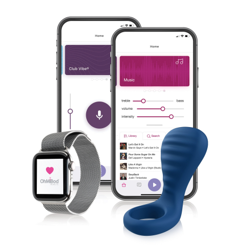 "Sex tech company, OhMiBod launches blueMotion NEX|3 – Bluetooth® enabled, App controlled vibrating couples ring with Extended Touch™ design inviting users to ""Feel the Music"" with their partner. (Photo: Business Wire)"