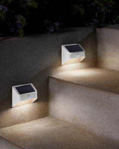 The new solar-powered Ring Smart Lighting devices bring users even more versatility when expanding their Ring of Security around their property. (Photo: Business Wire)