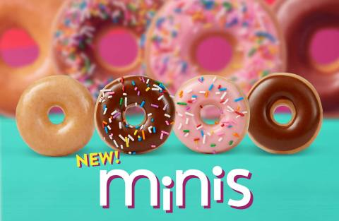 Brand rallies America Not to Quit on New Year's resolutions, but 'Cheat Sweet' with new 'mini' versions of its popular doughnuts, beginning Jan. 6. (Photo: Business Wire)