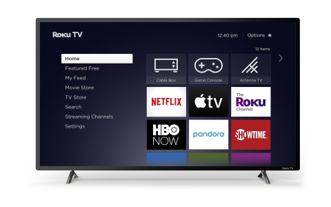 Roku TV models are simple to use, featuring endless entertainment and an easy-to-use remote. (Graphic: Business Wire)