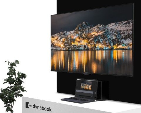 Sharp's new dynabook 8K video editing PC system provides a compact, portable platform for the display and editing of ultra-HD 8K materials. (Photo: Business Wire)