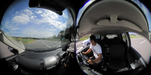 A 360° driving image from the d'Action 360 S. (Photo: Business Wire)
