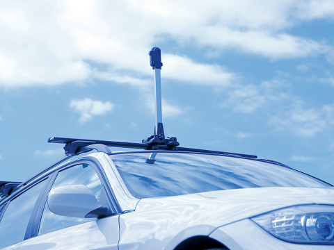 The dedicated roof rack attachment for the d'Action 360 S. (Photo: Business Wire)