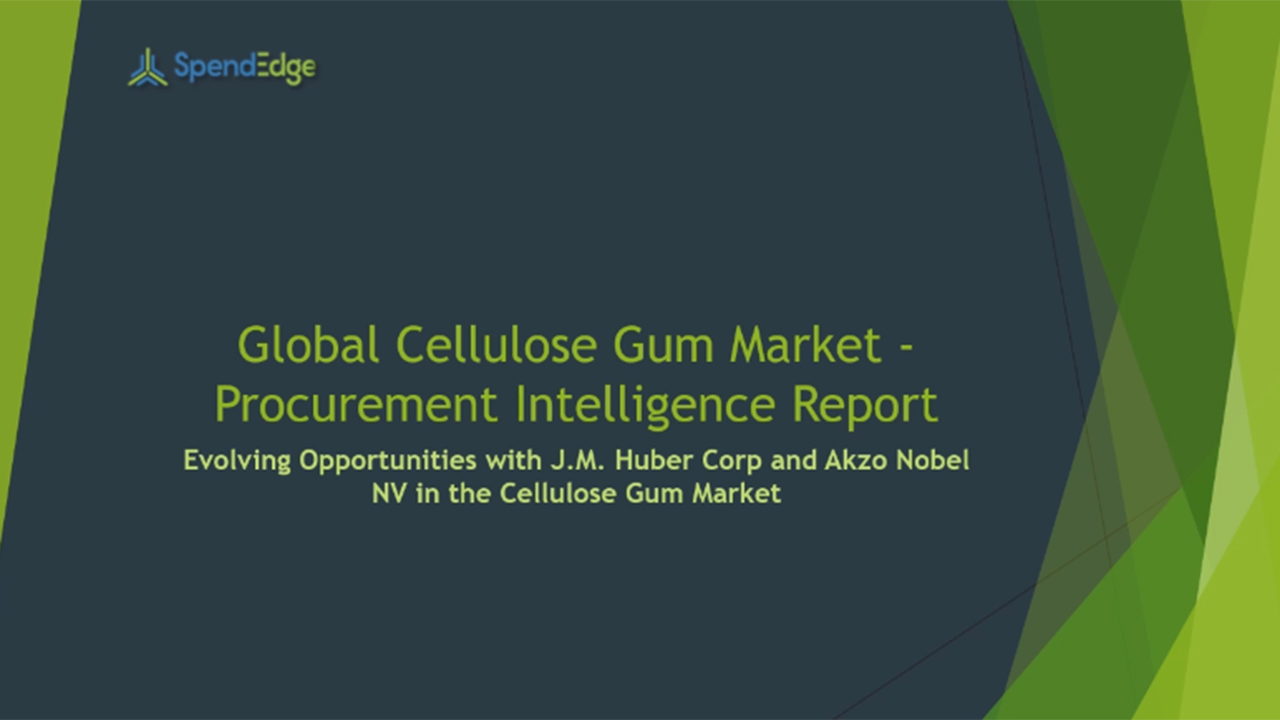 SpendEdge, a global procurement market intelligence firm, has announced the release of its Global Cellulose Gum Market - Procurement Intelligence Report.