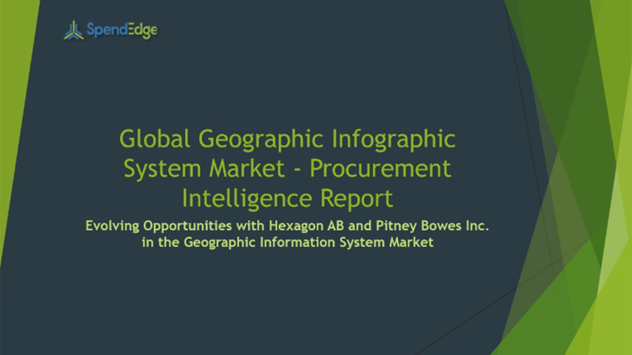 SpendEdge, a global procurement market intelligence firm, has announced the release of its Global Geographic Information System Market - Procurement Intelligence Report.