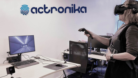 Actronika offers a haptic jacket allowing users to simultaneously touch and feel all events occurrin ...