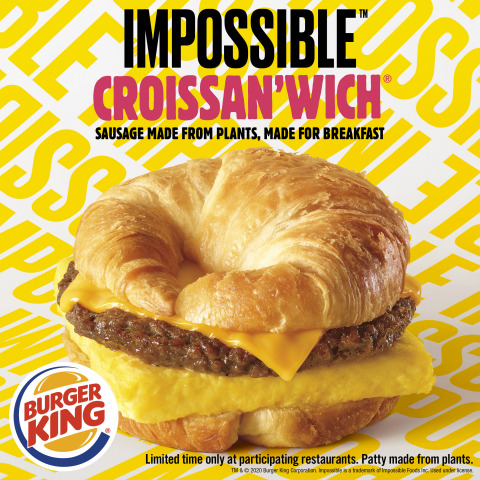 BURGER KING® RESTAURANTS TEST THE IMPOSSIBLE™ CROISSAN'WICH® (Photo: Business Wire)
