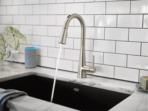 The smart home product designed to make everyday tasks easier - Moen introduces line of voice-activated kitchen faucets at CES 2020. (Photo: Business Wire)