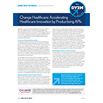 Article: Accelerating Healthcare Innovation by Productizing APIs