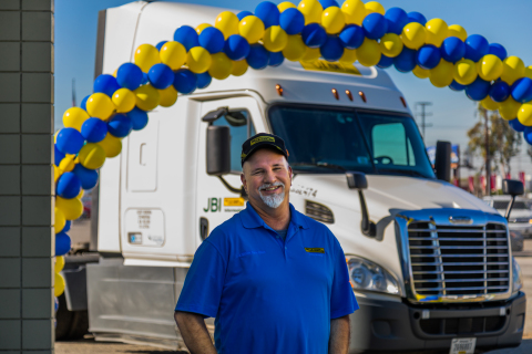 Phil Fortin, a J.B. Hunt Intermodal driver based in South Gate, California, recently became the company's first driver to achieve five million safe miles driven. (Photo: Business Wire)