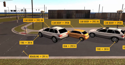 Ansys and FLIR announced a collaboration to integrate a thermal sensor into ANSYS' leading-edge driving simulator to model, test, and validate thermal camera designs within an ultra-realistic virtual world. Real-time thermal camera simulation allows developers to test automatic emergency braking systems and autonomous vehicles. (Photo: Business Wire)