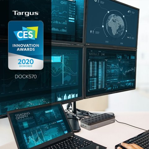CES Innovation Award Honoree - Targus Dock 570, enabled by DisplayLink's award winning graphics and smart workspace technology (Photo: Business Wire)