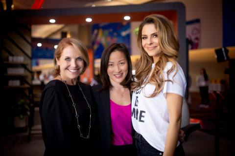 Katie Couric, Rally Health's Brenda Yang and Rally Health Ambassador Maria Menounos visit the Rally Experience at CES 2020. (Photo: Business Wire)