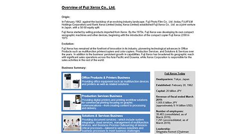Overview of Fuji Xerox Co., Ltd.